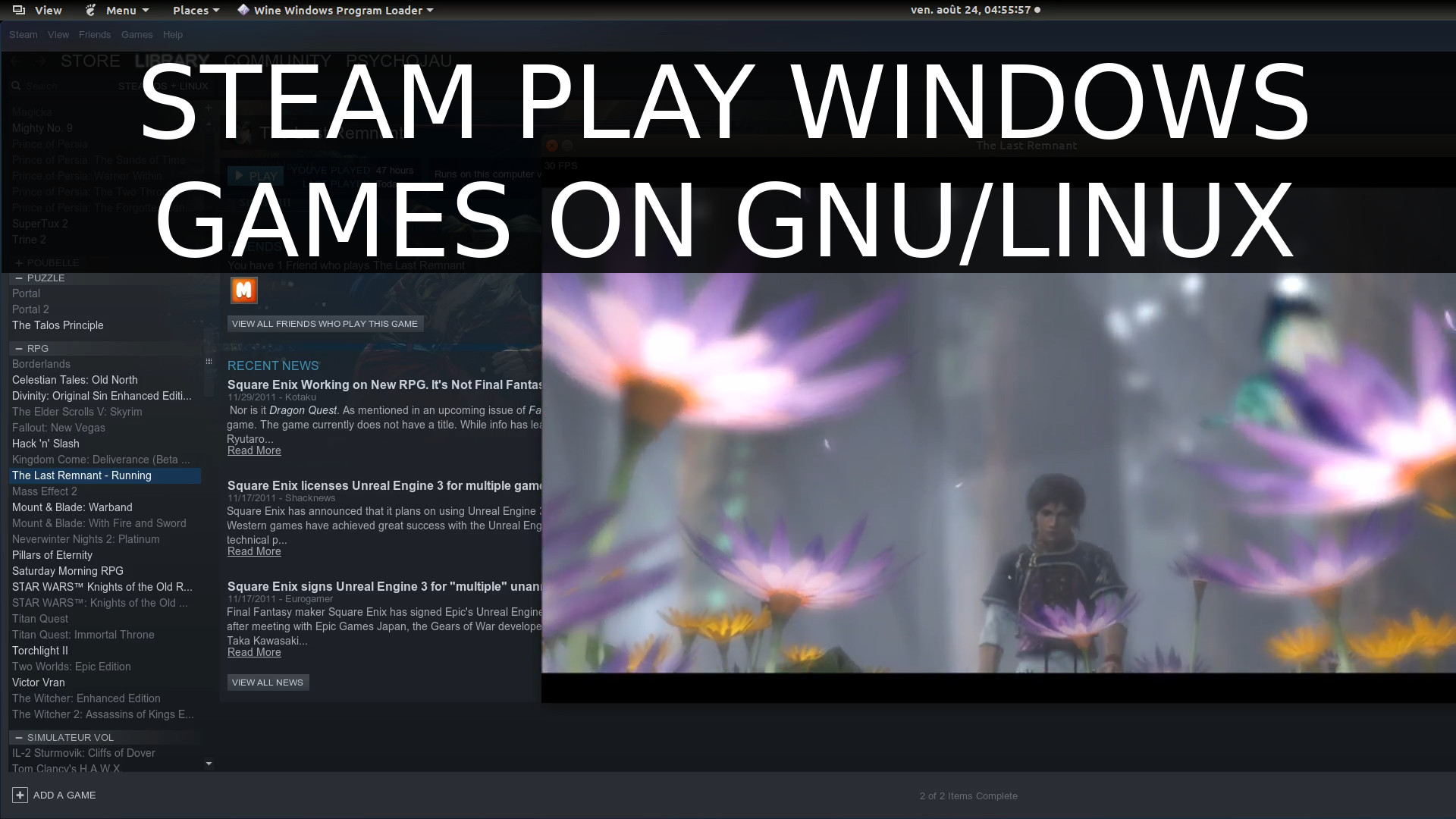 How to Play Windows games on Linux with Steam Play, Last Remnant, GamingOnLinux