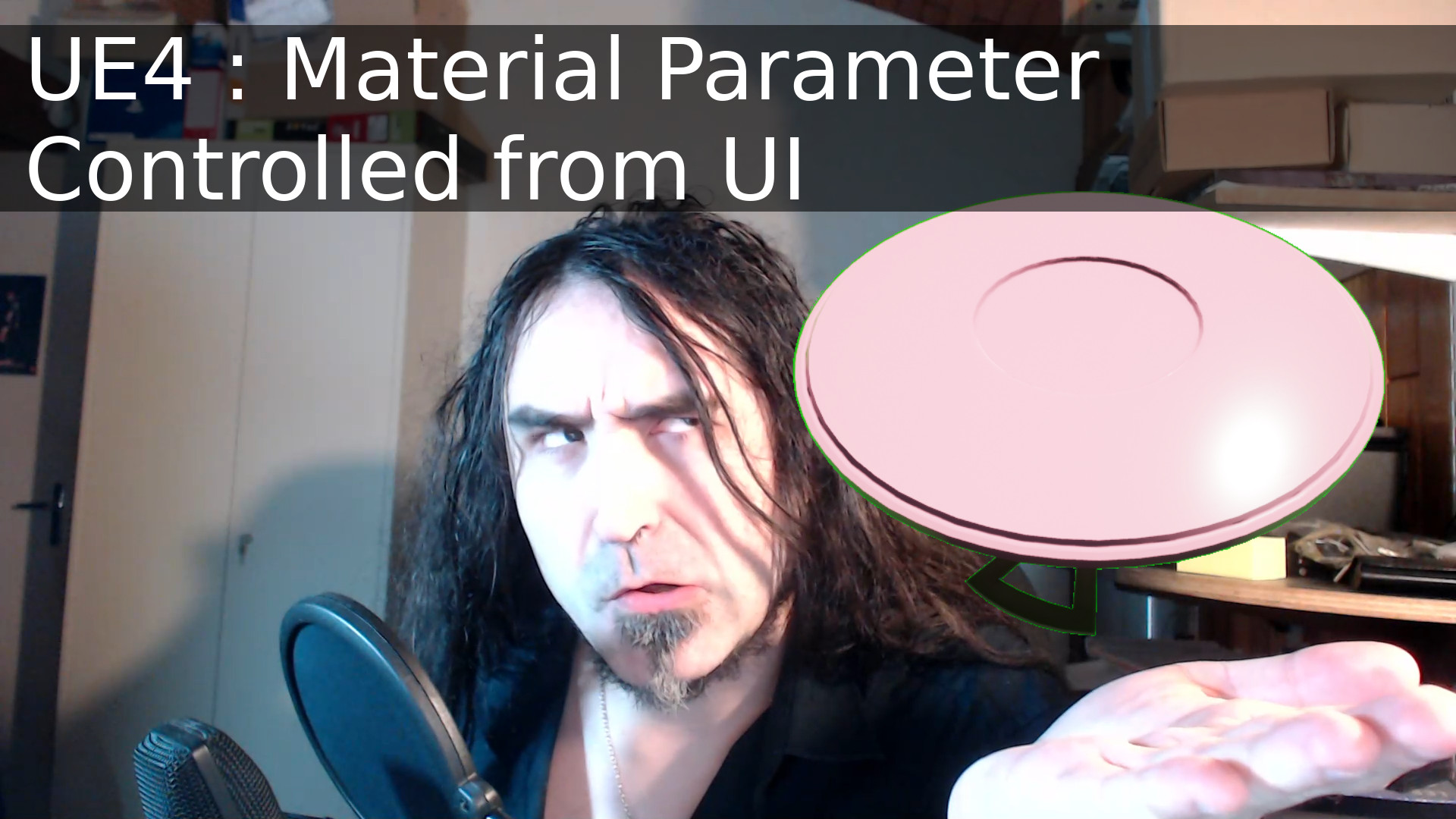 UE4 : Material Parameter Controlled from UI. Color example.