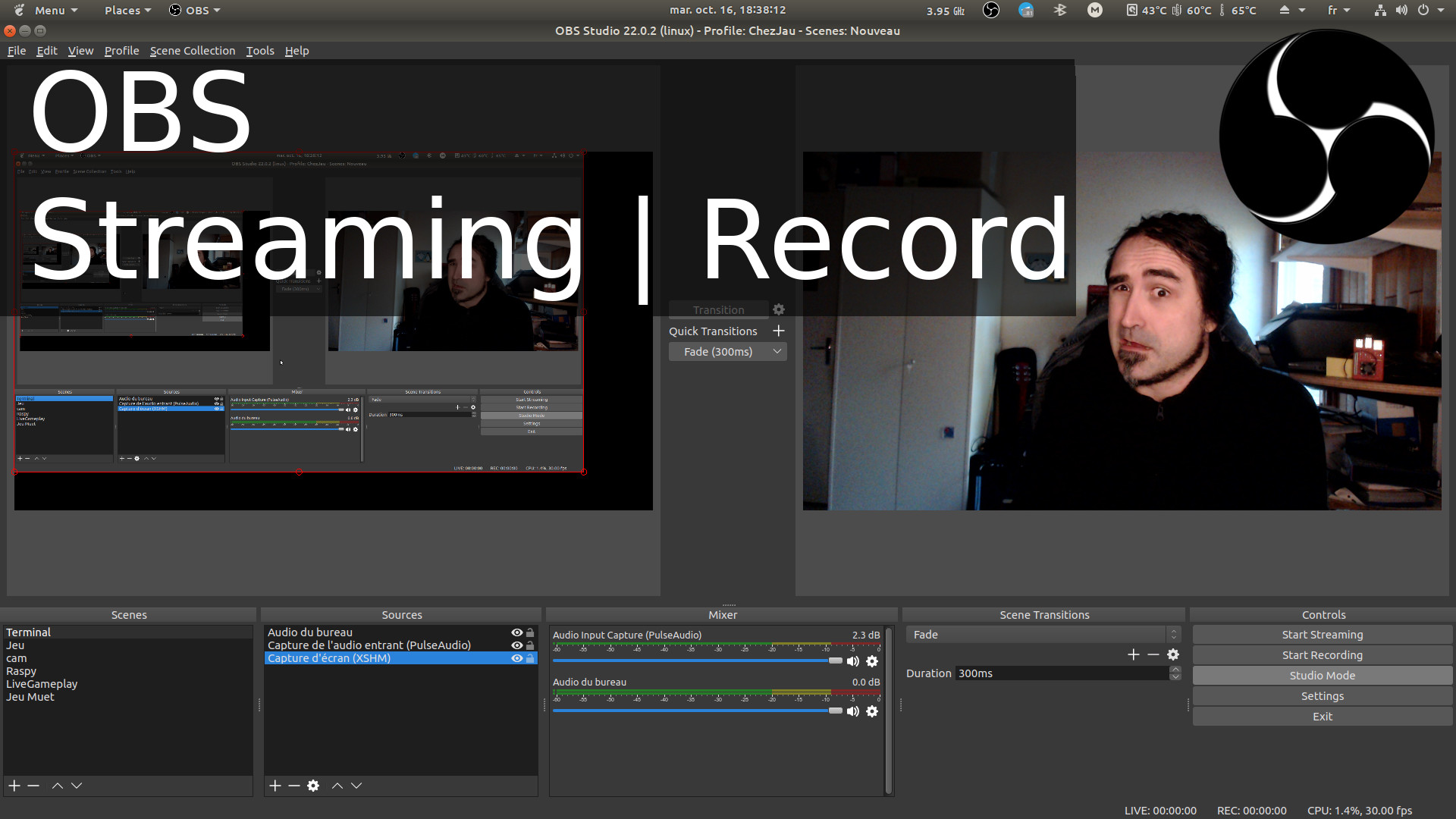 OBS How to stream, record. Encoding, separate voice and sounds.