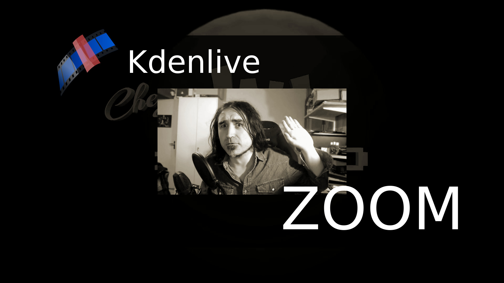 Kdenlive : Zoom in and out with effects and transitions between tracks