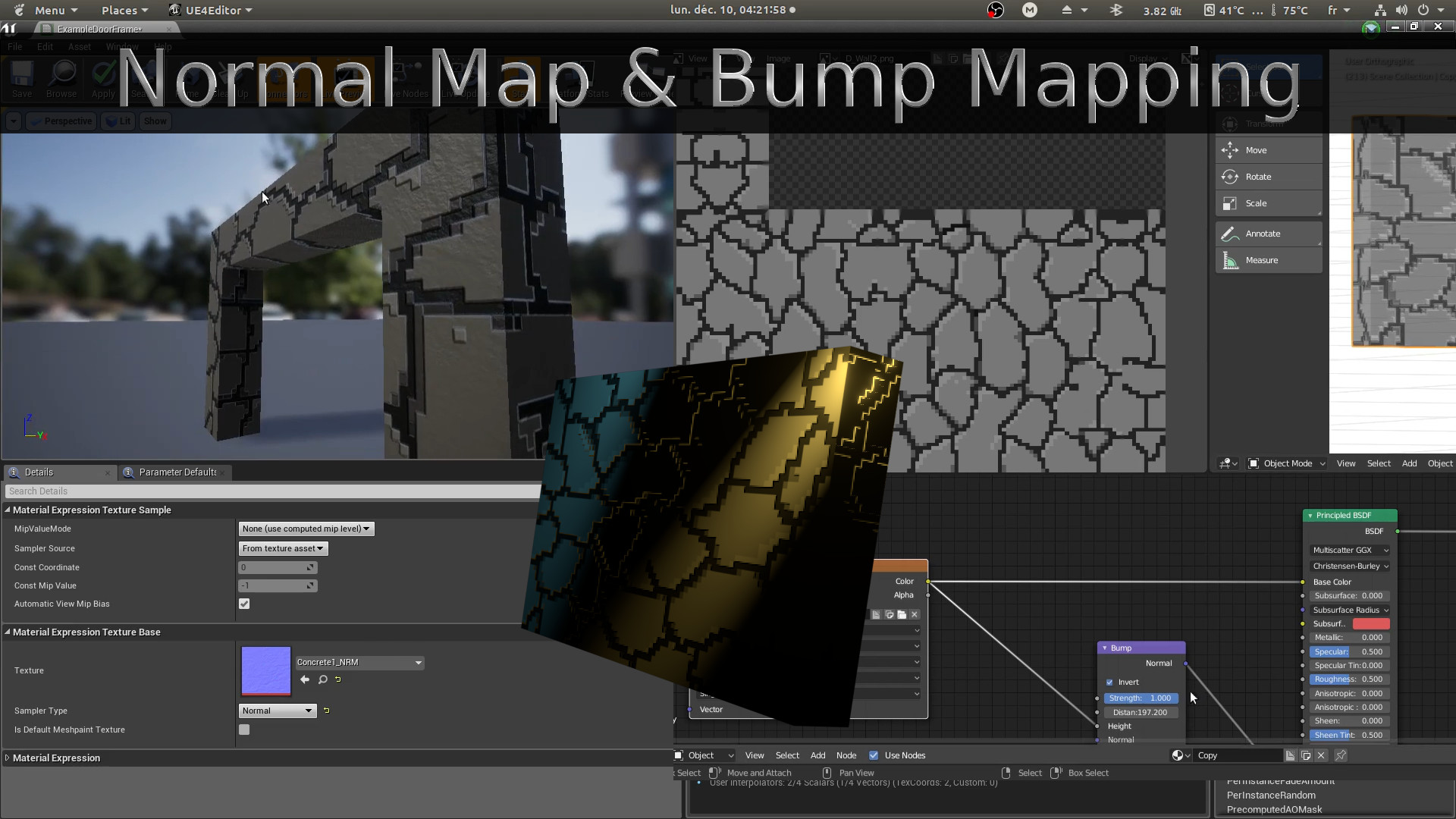 Baked Normal and Bumpmapping in Blender and Unreal Engine 4