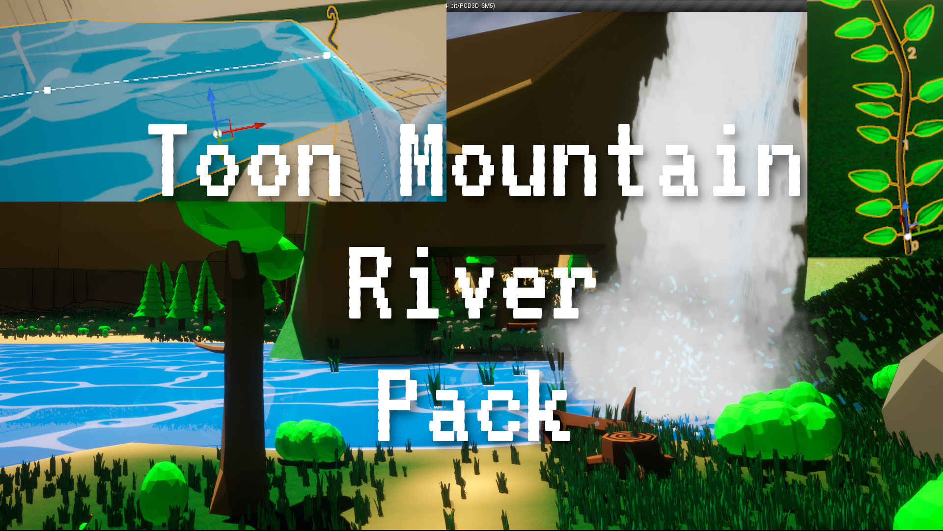 Toon Mountain River assets pack for U4